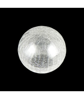 80mm Art Deco Crackle Globe with 40mm Fitter Hole