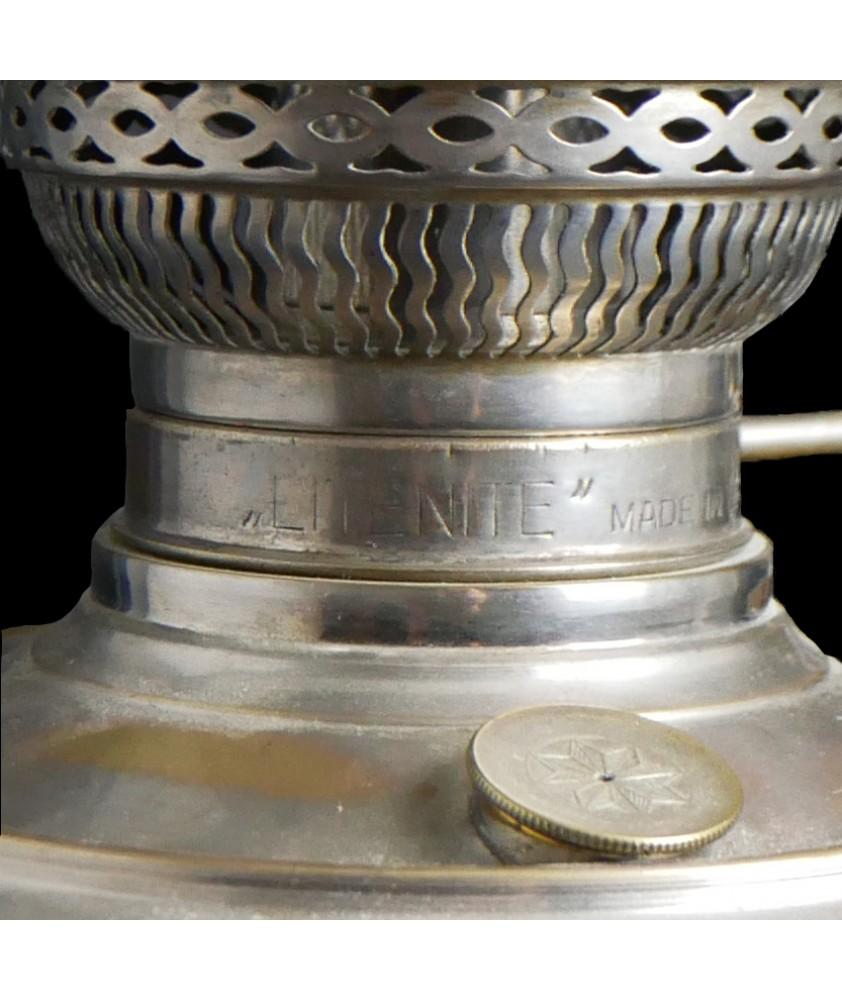 LiteNite German Made Oil Lamp with Original Shade