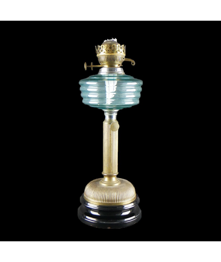 Duplex Oil Lamp with Blue Font