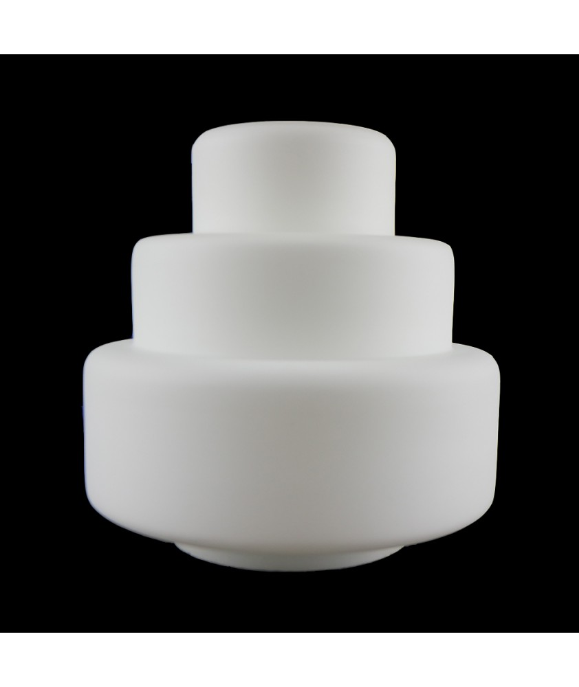 Art Deco Frosted Wedding Cake Light Shade with 80mm Fitter Neck