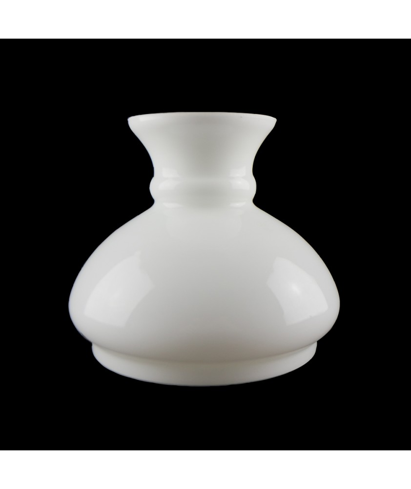 Vintage Opal Oil Lamp Vesta Shade 120mm Base