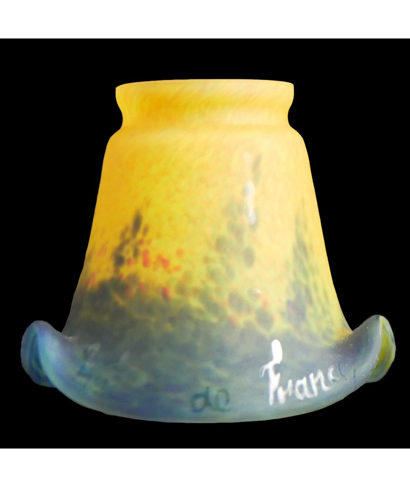 Yellow/Blue Art de France Tulip Light Shade with 55mm Fitter Neck