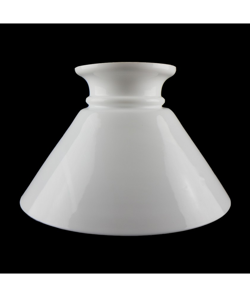255mm Base Opal Conical Oil Lamp Shade