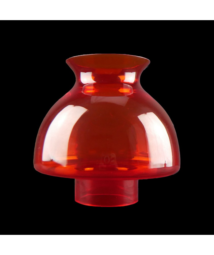 Orange Paris Style Vesta Oil Lamp Shade with 78mm Base