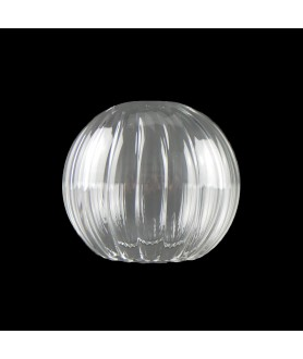 100mm Ribbed Clear Globe with 55mm Fitter Hole