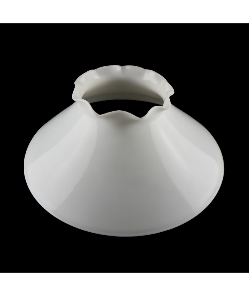 Oil lamp shade with frilled top and 380mm Base