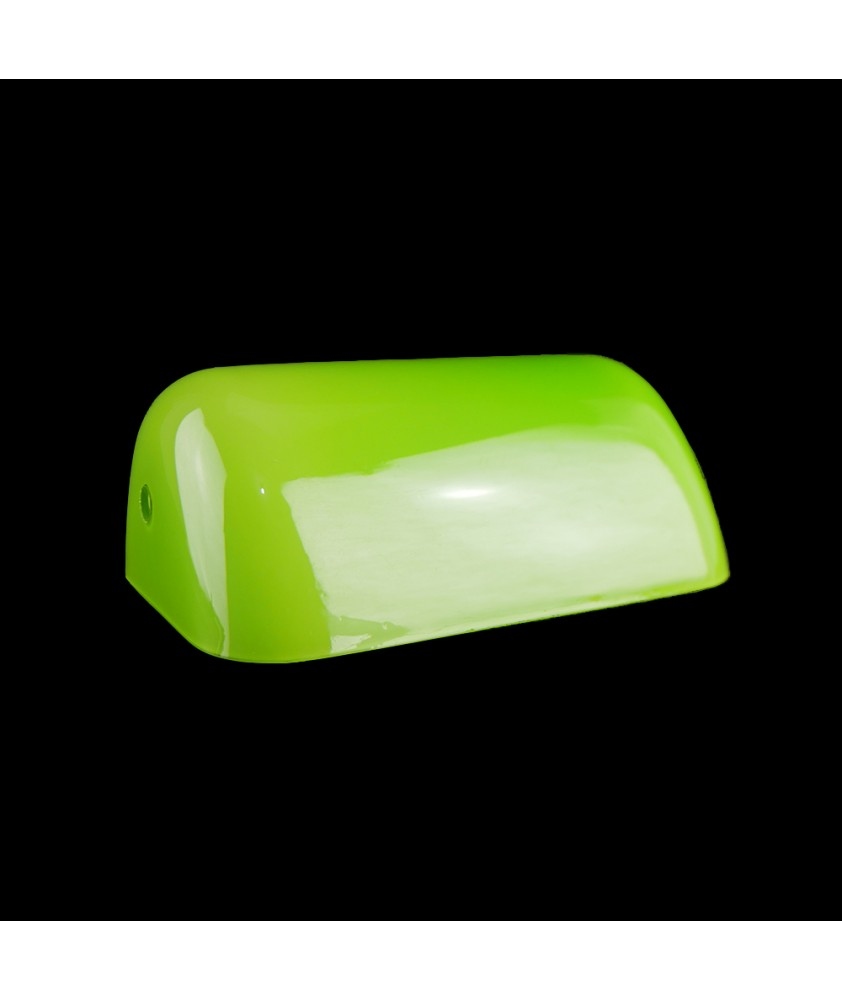 Lime Green Bankers  Lamp Shade