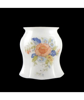 Floral Pattern Vitrosil Gas Shade with 48mm Fitter Neck