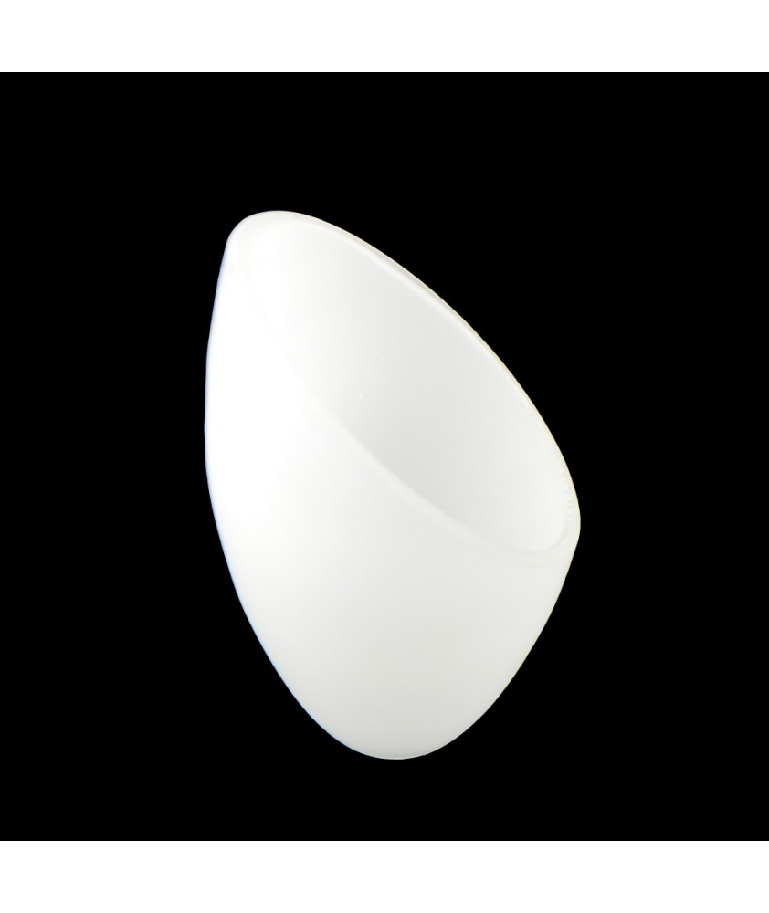 """Matt Opal Slant Light Shade """"Next"""" with 10mm Fitter Hole"""