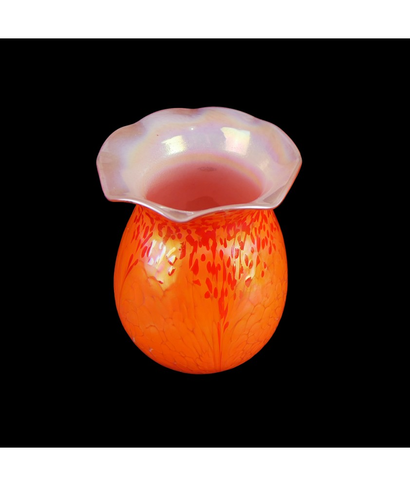 Orange Mosaic Style Tulip Light Shade with 50mm Fitter Neck
