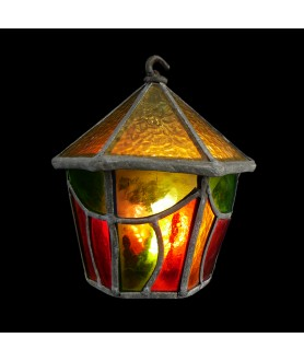 Charming Stained Glass Lantern