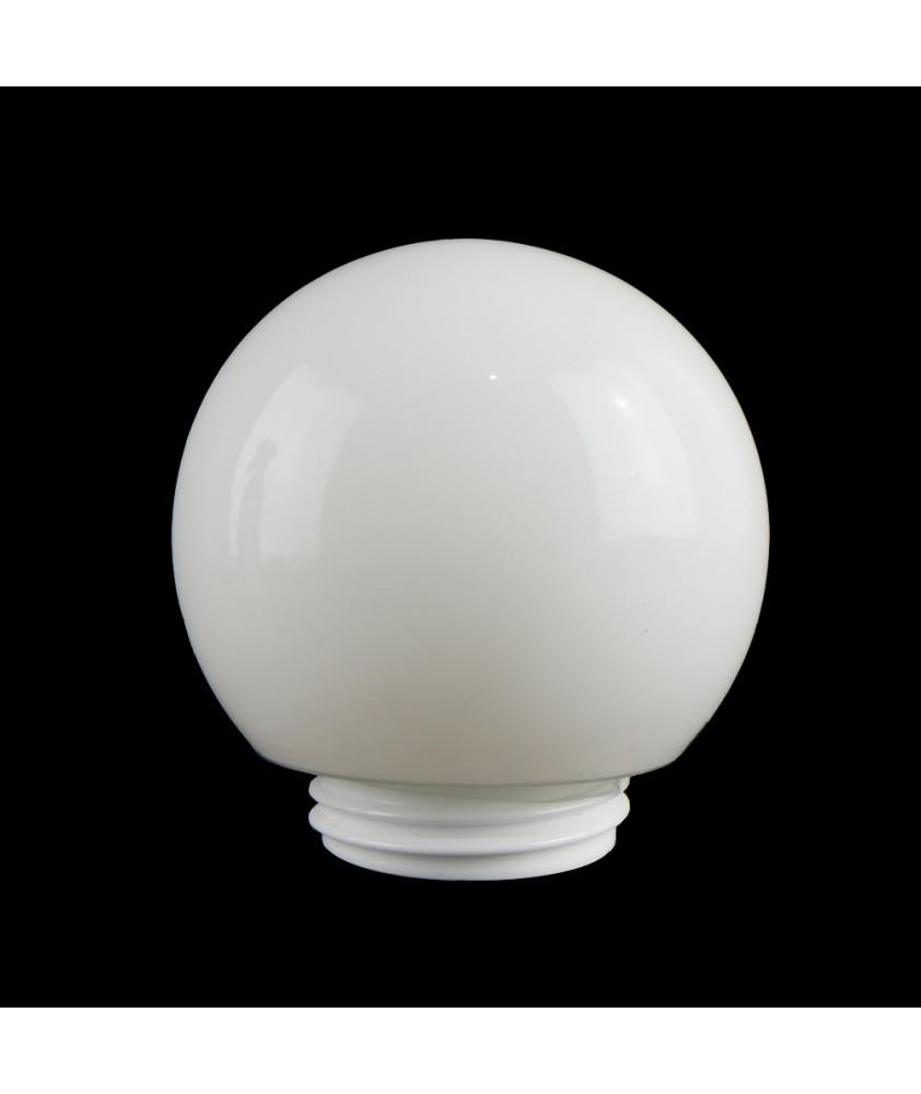 150mm White Globe with 80mm Screw Neck