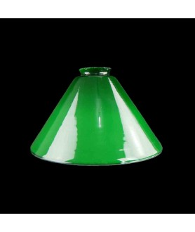 215mm Small Original Green Coolie Light Shade with 57mm Fitter Neck