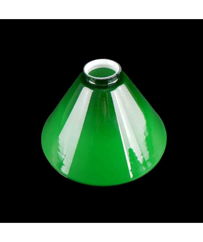 215mm Small Original Green Coolie Shade with 57mm Fitter Neck