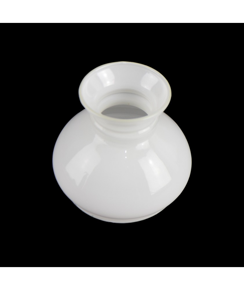 Small Opal Vesta Oil Lamp Shade with 88mm Base