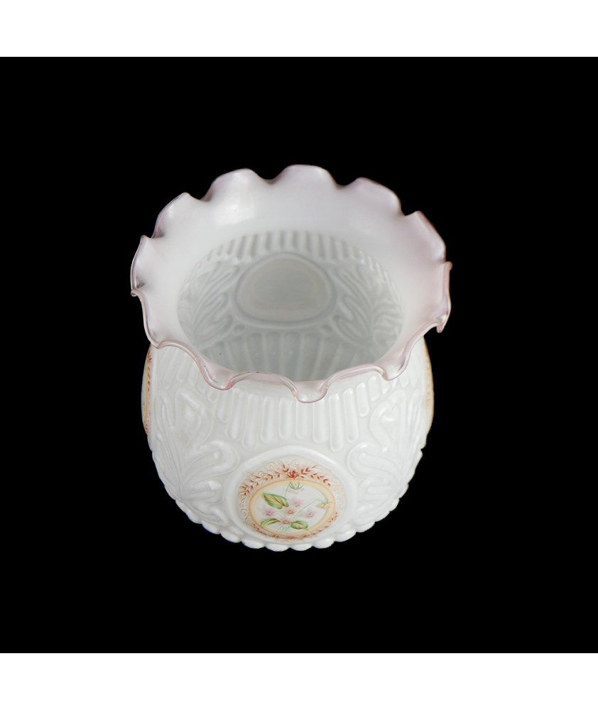 Embossed Oil Lamp Shade with 95mm Base