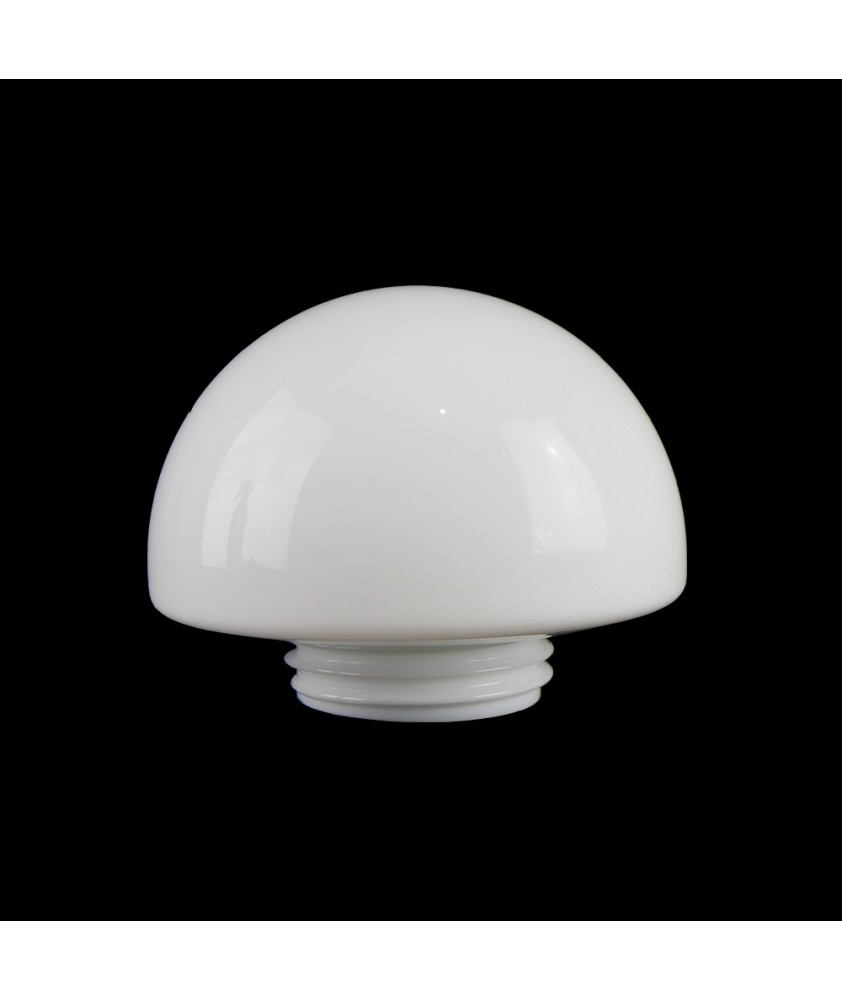 Opal Half Globe Shade with 80mm Screw Neck
