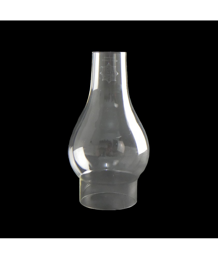 Comet Bulge Oil Lamp Chimney with 75mm Base
