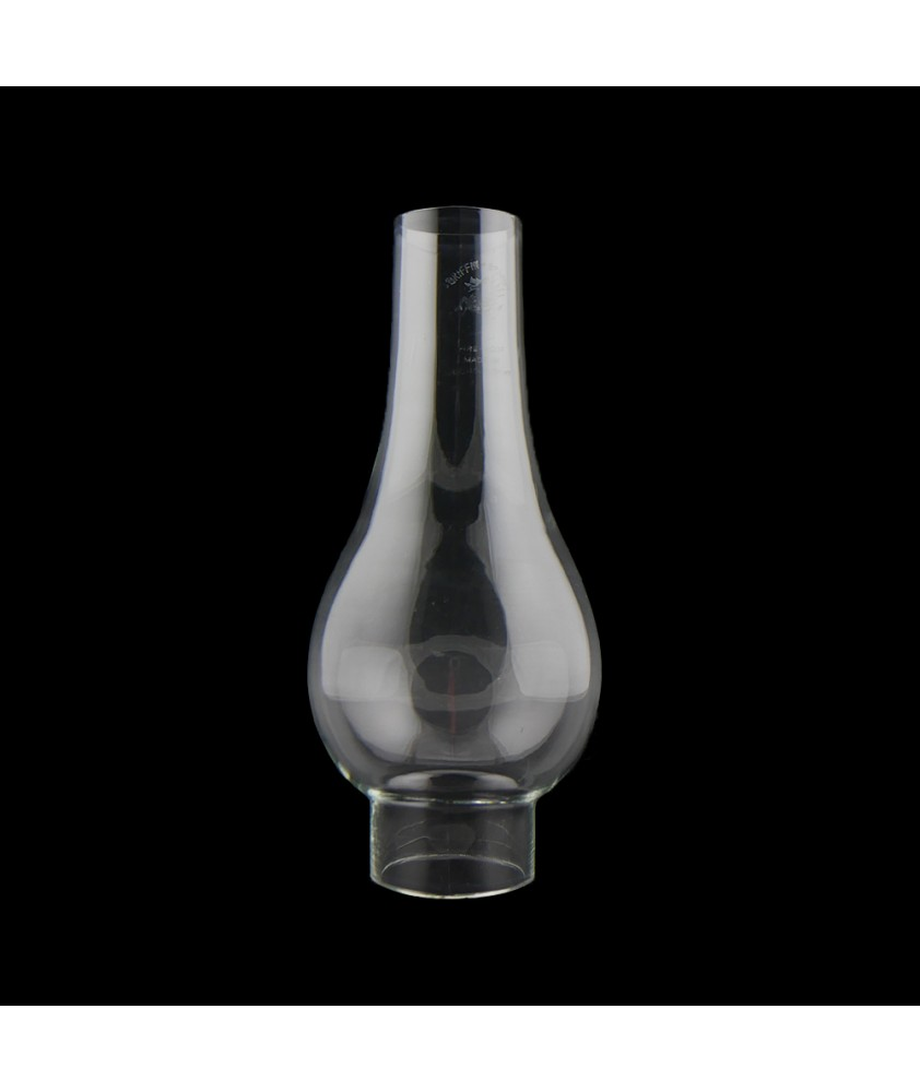 180mm Bulge Oil Lamp Chimney with 45mm Base