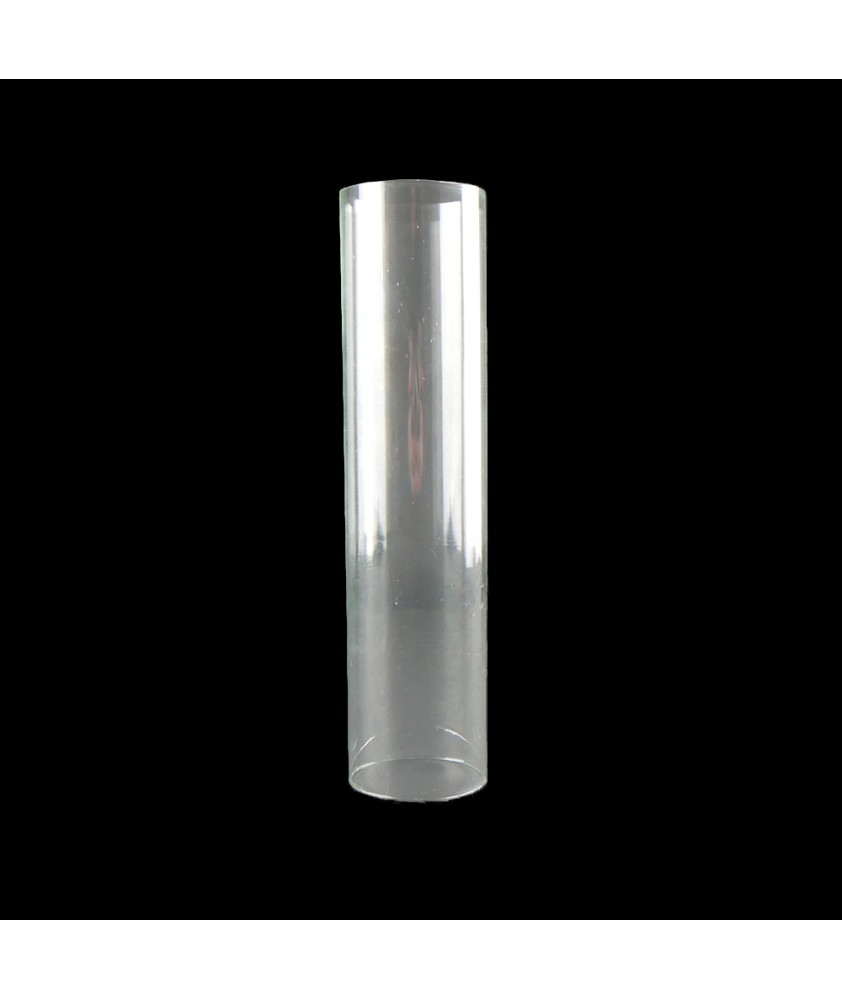 200mm Clear Glass Cylinder Shade with 49mm Base