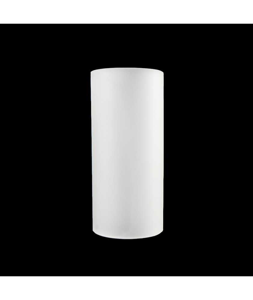 110mm Frosted Glass Cylinder Glass Shade with 50mm Base
