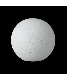 150mm White Marble Globe Light Shade with 80mm Fitter Hole