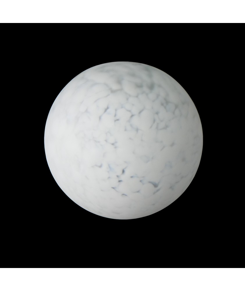 150mm White Marble Globe Light Shade with 70mm Fitter Hole