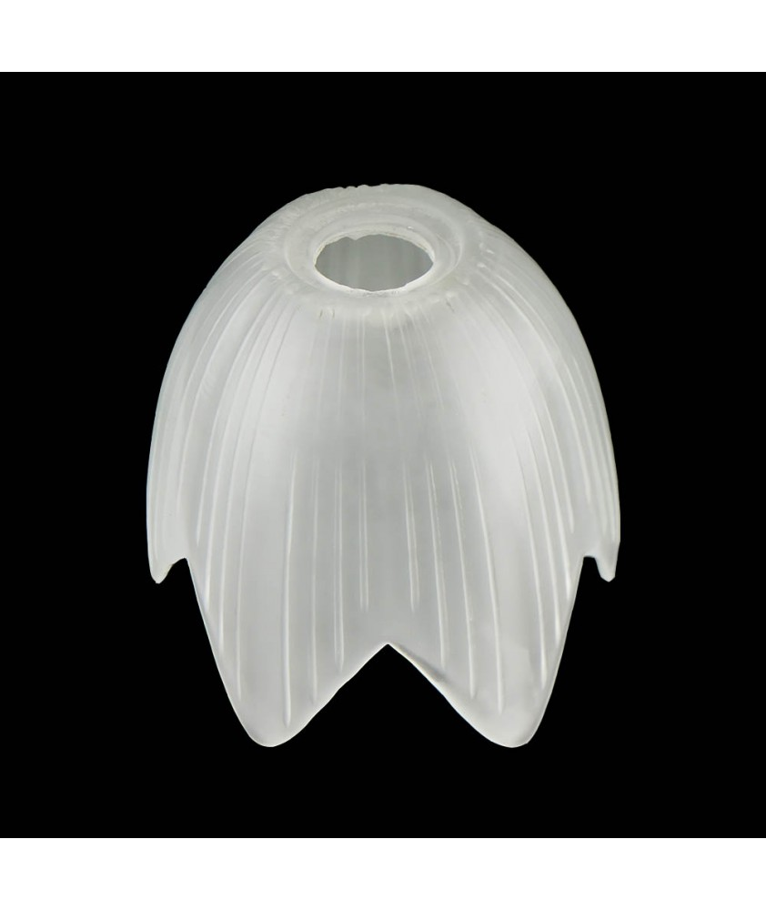 Frosted Frilled Tulip Shade with 30mm Fitter Hole