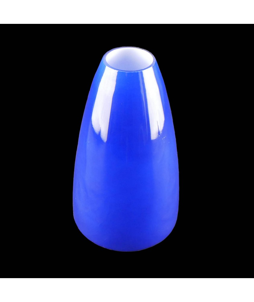 Large Blue Cone Light Shade with 42mm Fitter Hole