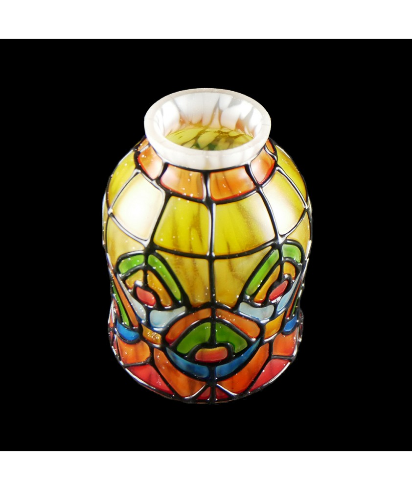 Painted Patterned Tulip Shade with 53mm Fitter Neck