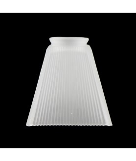 Frosted Prismatic Square Light Shade with 75mm Fitter Neck