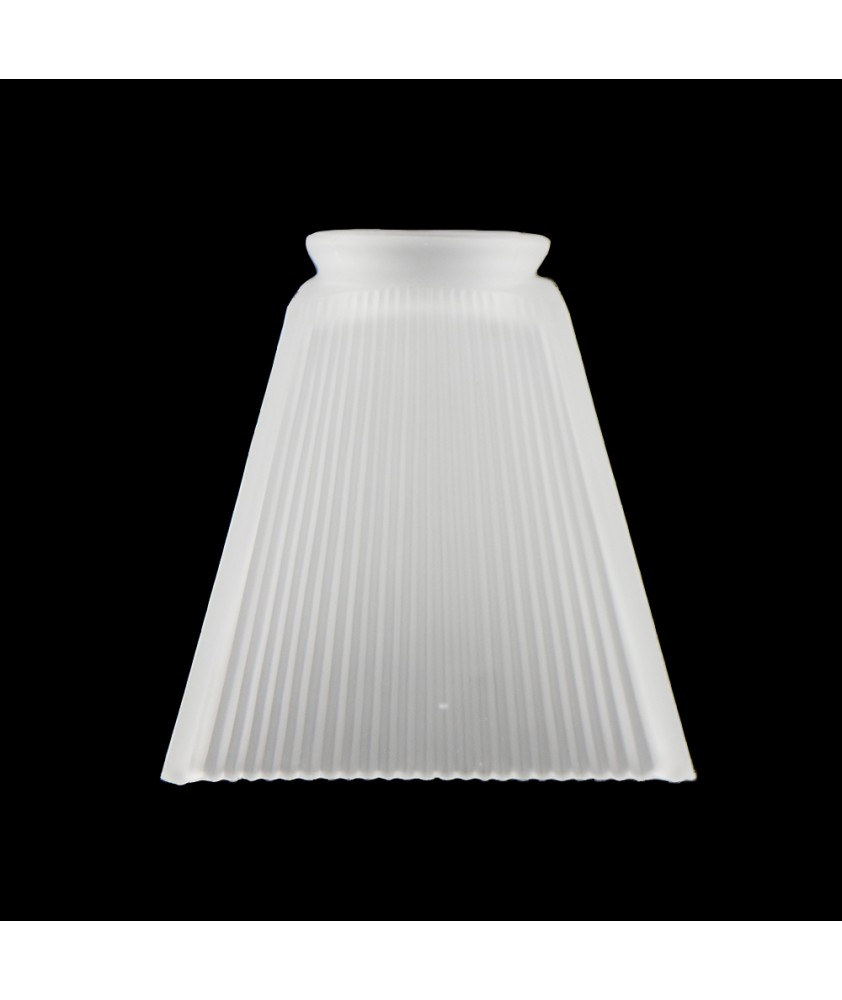 Frosted Prismatic Square Shade with 75mm Fitter Neck