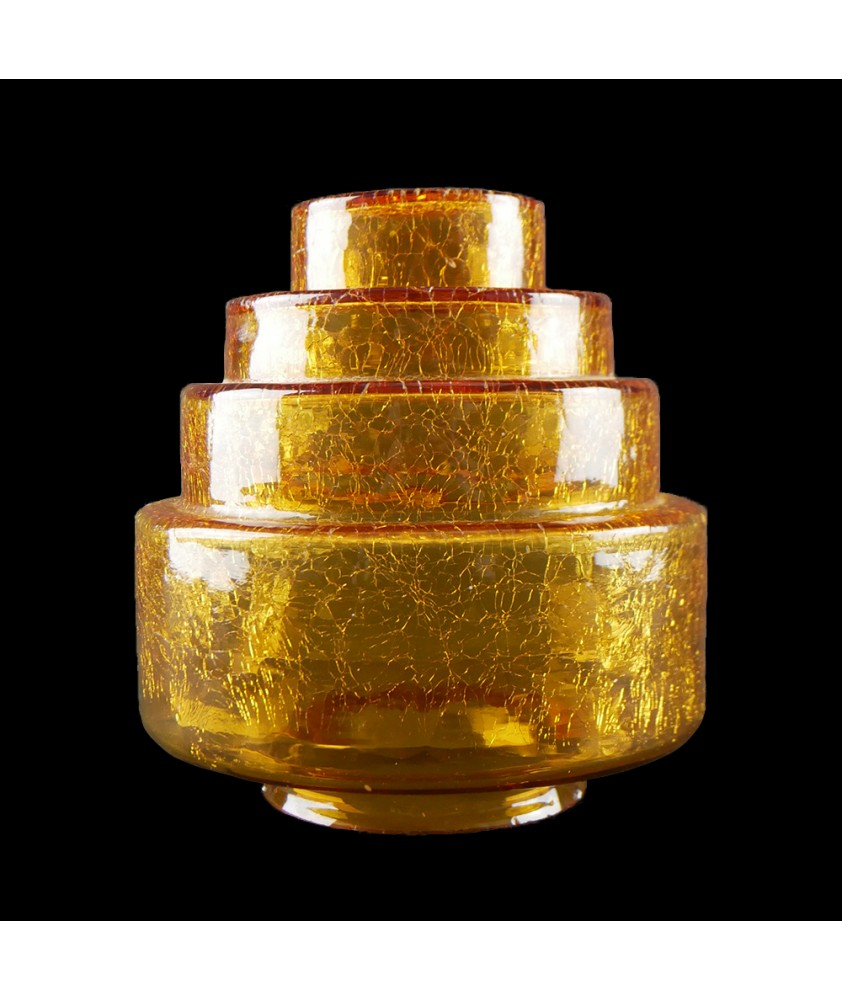 Crackled Amber Wedding Cake Shade with 80mm Fitter Neck