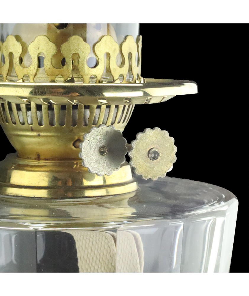 Complete Banquet Oil Lamp with Marble Column