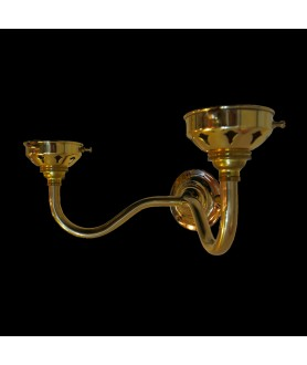 Moncrieff Double Brass Wall Bracket