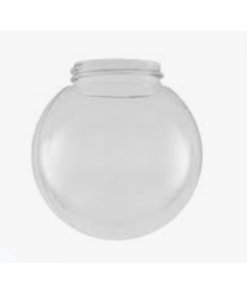 150mm Clear Acrylic Globe with 82mm Screw Neck