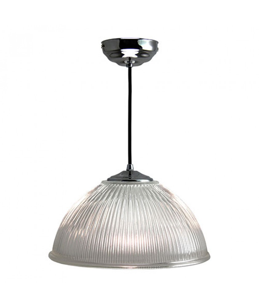 305mm Prismatic Dome Pendant with Chrome Finish