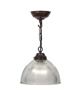 220mm Dome Pendant with an Antique Bronze Finish