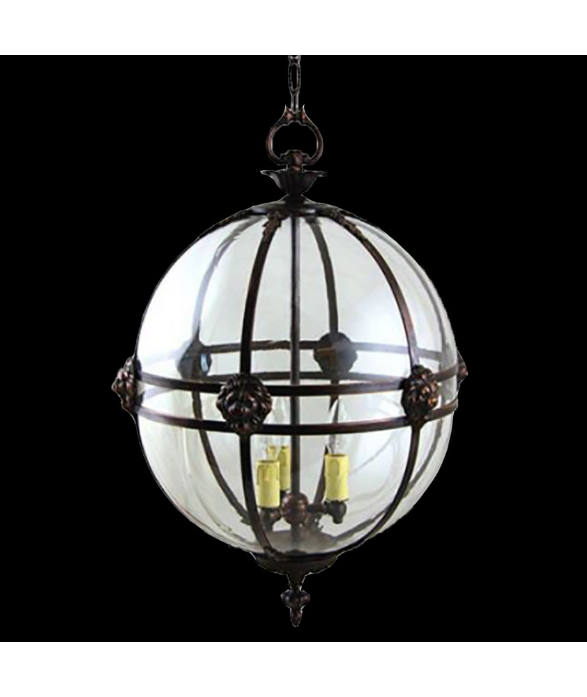 Victorian Lantern with Lions Heads and Ivory Drips