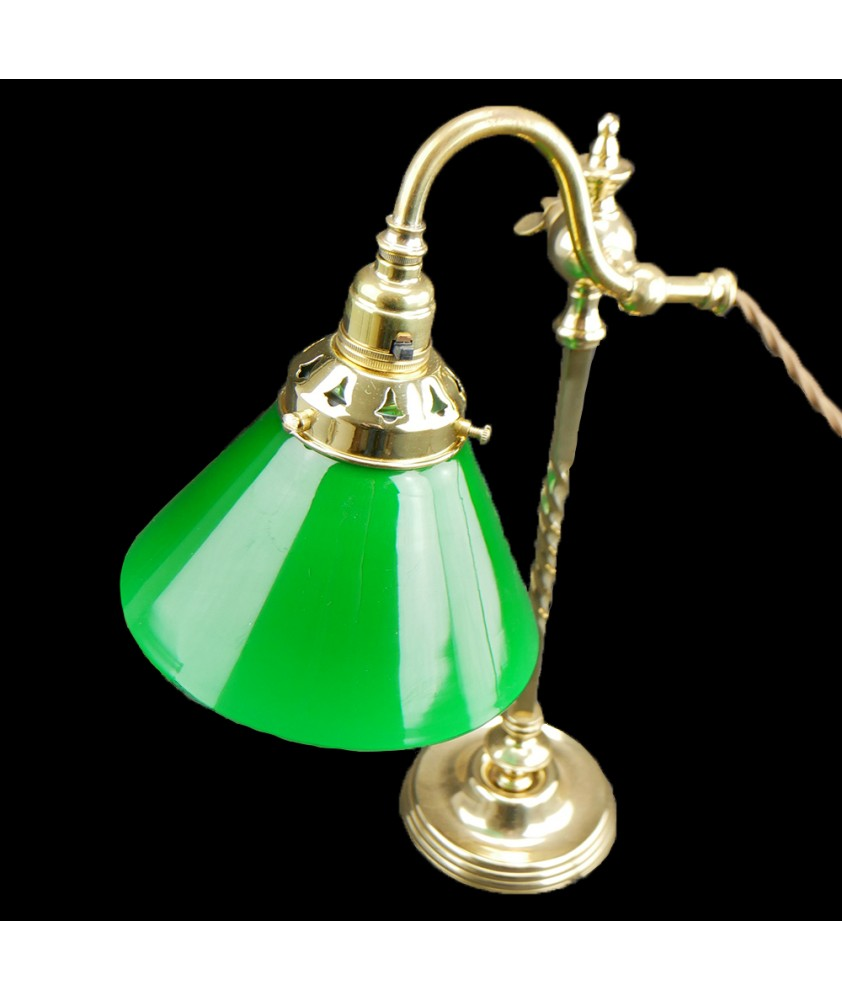 160mm Green Coolie Light Shade with 55mm Fitter Neck