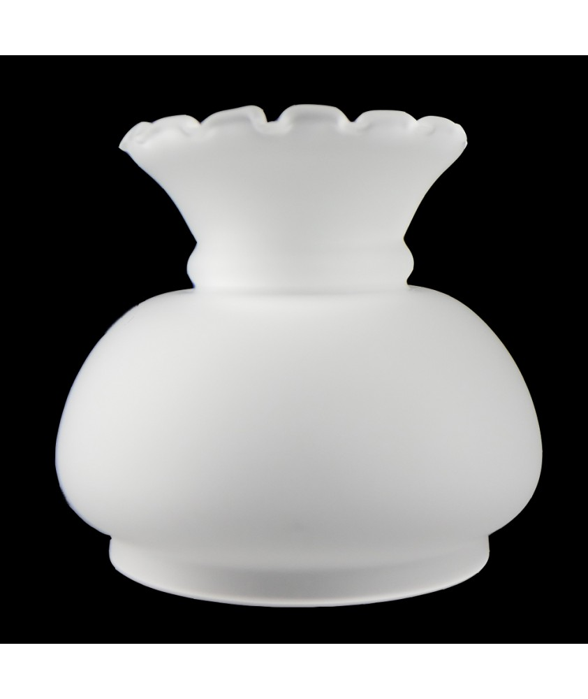 Small Frosted Vesta Oil Lamp Shade with 90mm Base