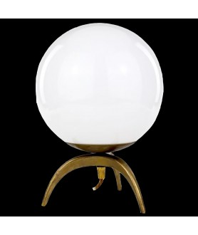 Large  Opal Orb Table Lamp