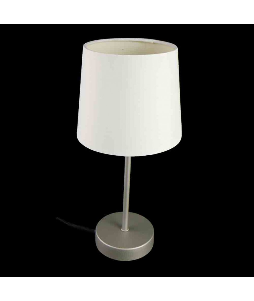 Alina Table Lamp Chrome with White Shade