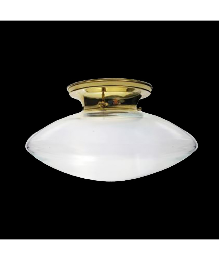 Clear Flying Saucer Ceiling Light