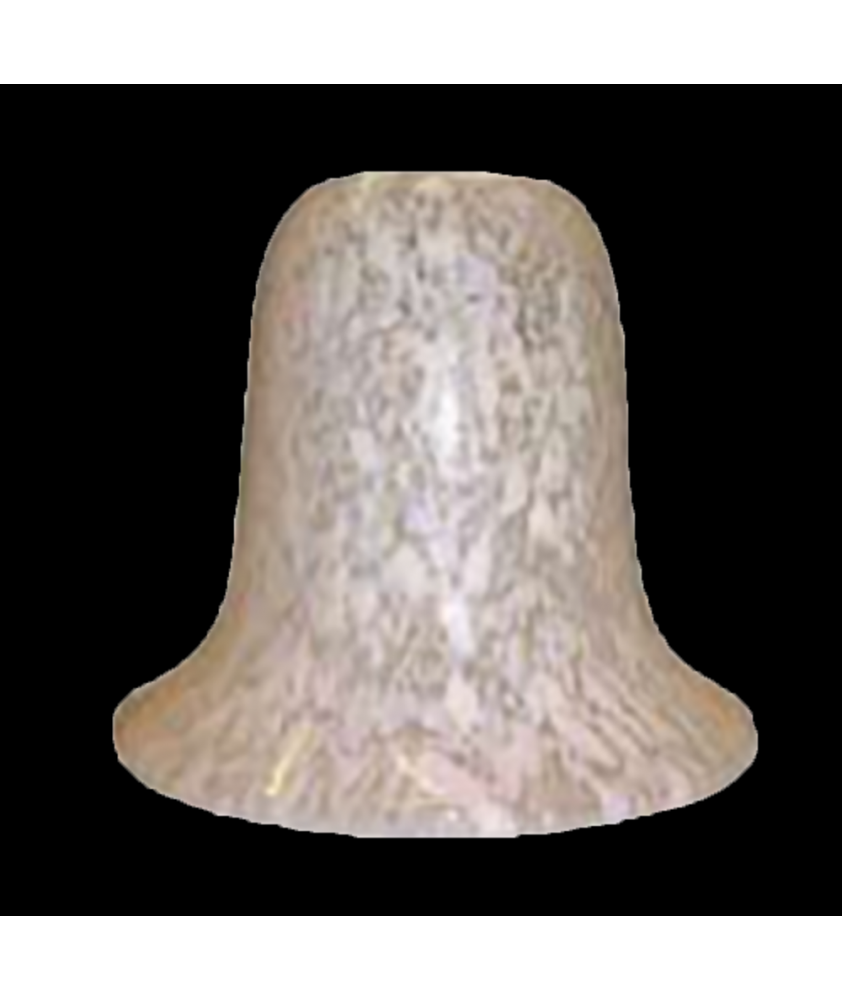White Flakestone Bell Light Shade with 28mm Fitter Hole