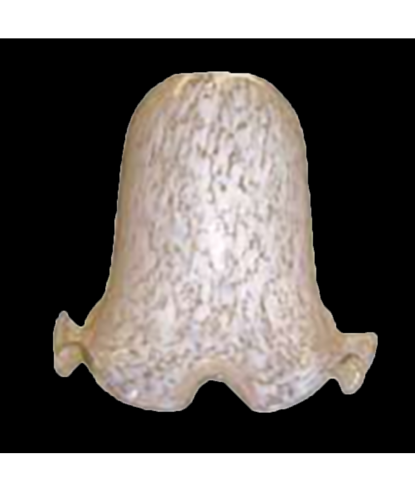 Frilled White Flakestone Bell Shade with 28mm Fitter Hole