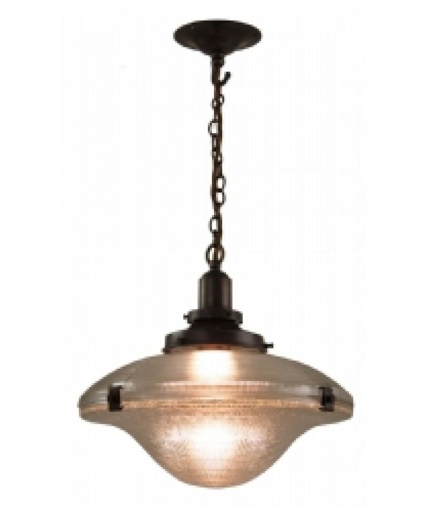 Cross Reeded Pendant in an Antique Bronze Finish