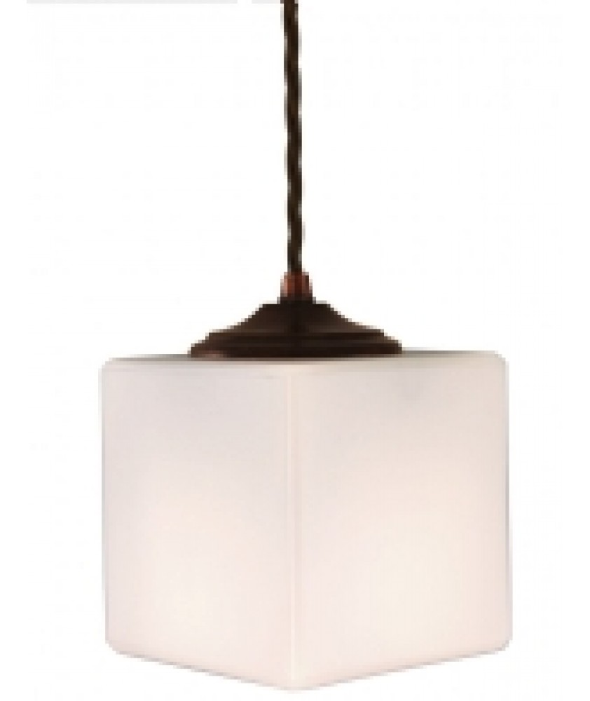 Cube Pendant in an Antique Bronze Finish