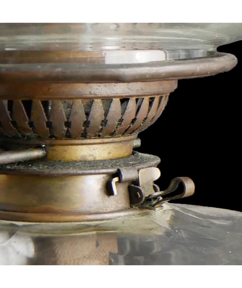 Young's Victorian  Banquet Oil Lamp, with Unusual burner