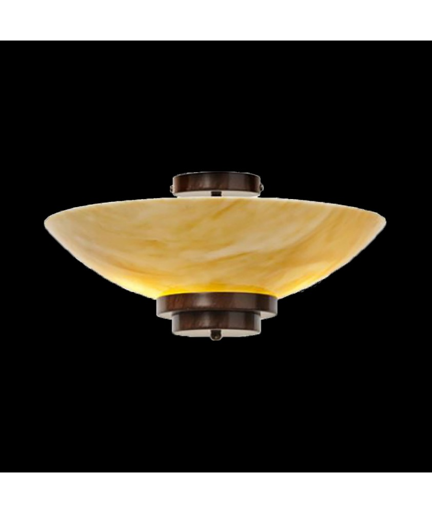 Stratton Amber Flush Wall Light